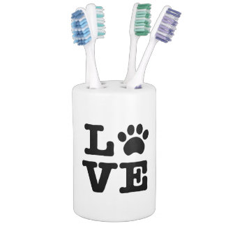 Love Paw Print Bath Set