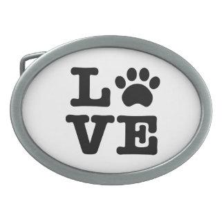 Love Paw Print Belt Buckle