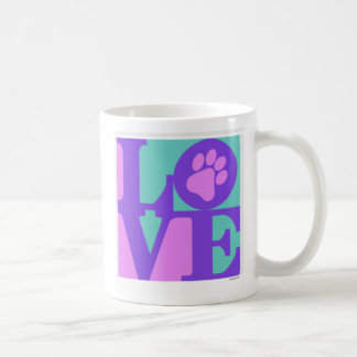 LOVE paw print Coffee Mug