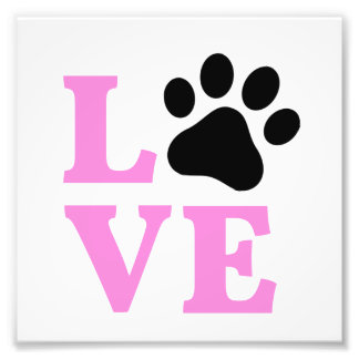 LOVE Paw Print Design