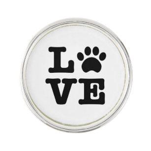Love Paw Print Lapel Pin