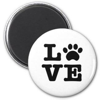 Love Paw Print Magnet
