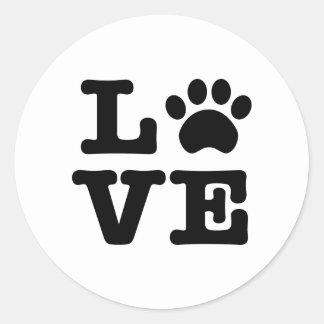 Love Paw Print Sticker
