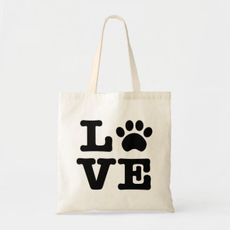 Love Paw Print Tote Bag