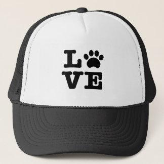 Love Paw Print Trucker Hat
