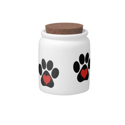 Love Paw Treat Jar Candy Jar