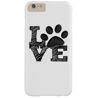LOVE pawprint Barely There iPhone 6 Plus Case