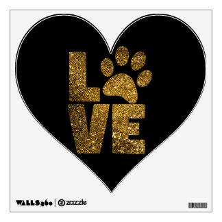 Love Pawprint Wall Decal