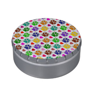 LOVE PAWS JELLY BELLY TIN