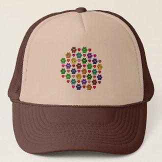 LOVE PAWS TRUCKER HAT