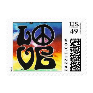 Love & Peace 60s Retro Postage Stamp