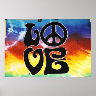 Love Peace 60s Retro Poster