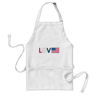 Love Peace America Apron