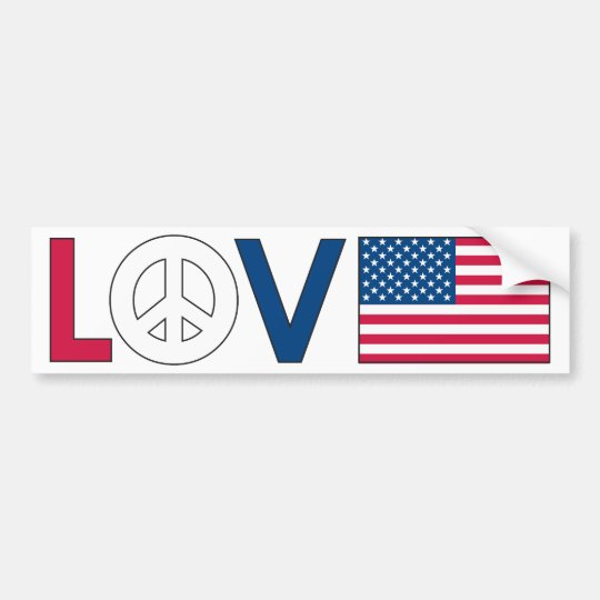 Love Peace America Bumper Sticker