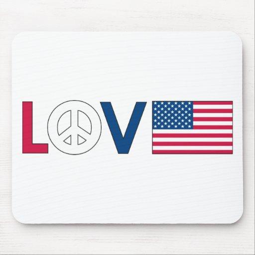 Love Peace America Mouse Pad