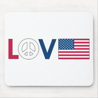 Love Peace America Mouse Pads