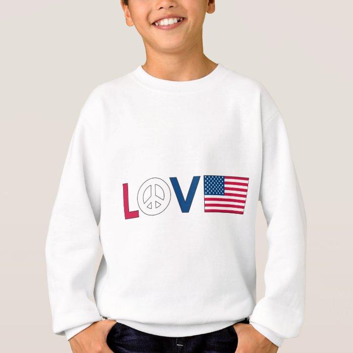 Love Peace America Sweatshirt