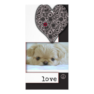 Love, peace and dogs photo cards