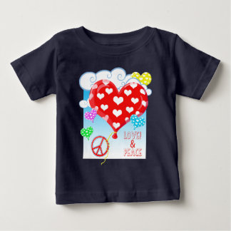 Love, Peace, And Heart Balloons Baby T-Shirt