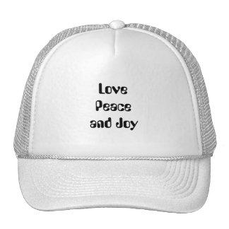 Love, Peace and Joy Cap