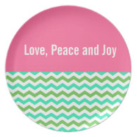 Love, peace and joy holiday plate dinner plate