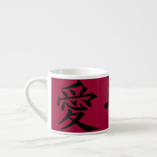Love, Peace and Laughter Espresso Cup