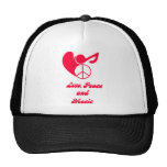 love, peace, and music gorros