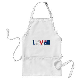 Love Peace Australia Adult Apron