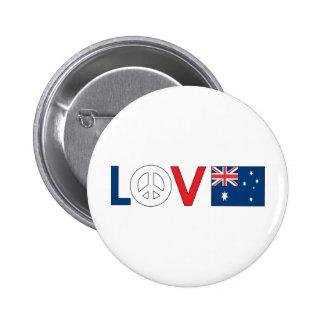 Love Peace Australia Button