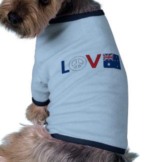 Love Peace Australia Dog Clothes