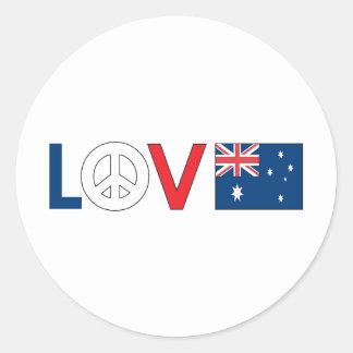 Love Peace Australia Sticker