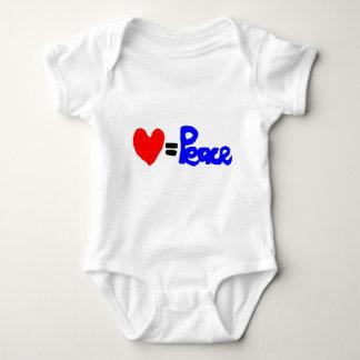 love = peace baby bodysuit