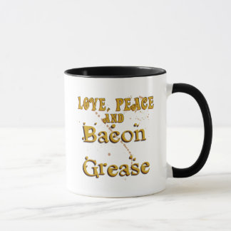 Love Peace & Bacon Grease Mug