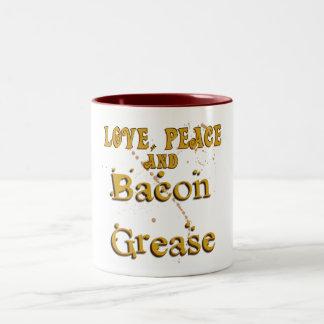 Love Peace & Bacon Grease Mugs