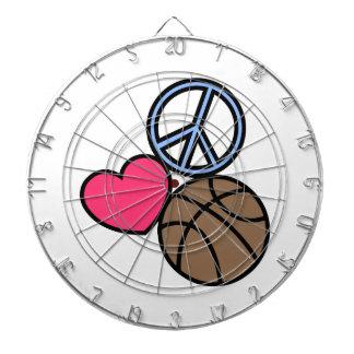 Love Peace Basketball Dart Board