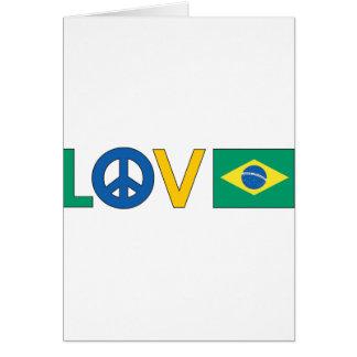 Love Peace Brazil Card
