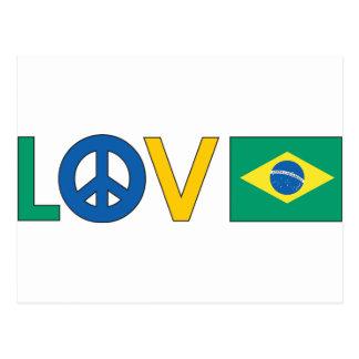 Love Peace Brazil Postcard