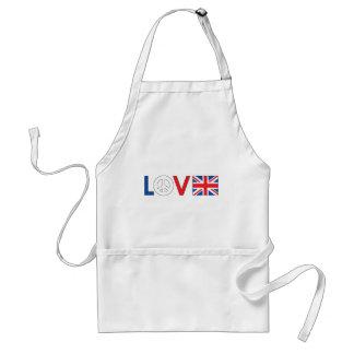 Love Peace Britain Apron