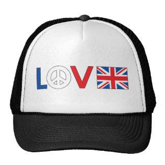 Love Peace Britain Hats