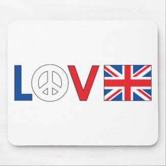 Love Peace Britain Mouse Pads