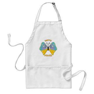LOVE & PEACE BUTTERFLY ADULT APRON