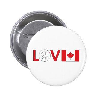 Love Peace Canada Button