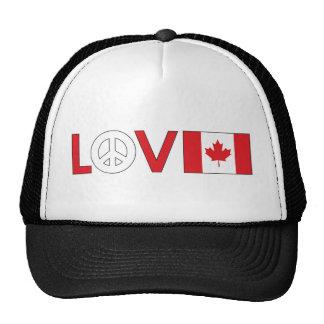 Love Peace Canada Mesh Hats