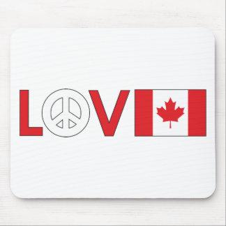 Love Peace Canada Mouse Pad