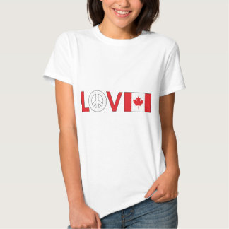 Love Peace Canada Tee Shirt