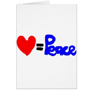 love = peace card