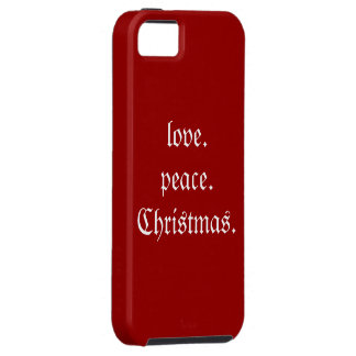 Love.Peace.Christmas. iphone 5 Case