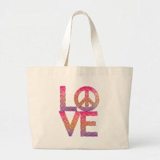 LOVE Peace de semitono Bolsa De Mano