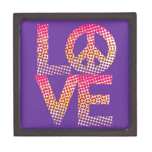 LOVE=Peace de semitono Cajas De Joyas De Calidad