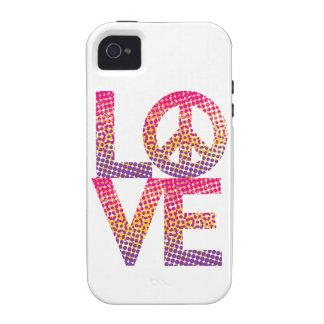 LOVE=Peace de semitono Case-Mate iPhone 4 Carcasa